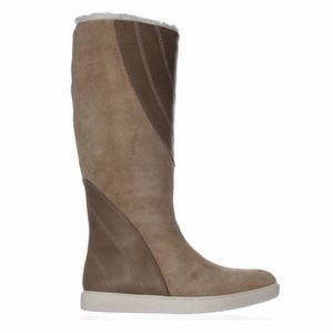 Naya Yuma Taupe Suede Faux Fur Lined Boot